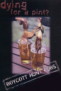 Dying for a pint?  Boycott hunt pubs